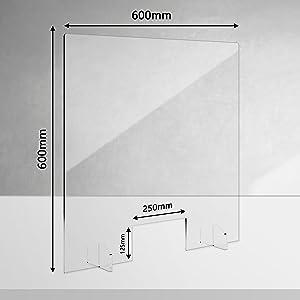 Niesschutz für die Theke Sonderposten 500 x 500mm Spuckschutz Aktion !