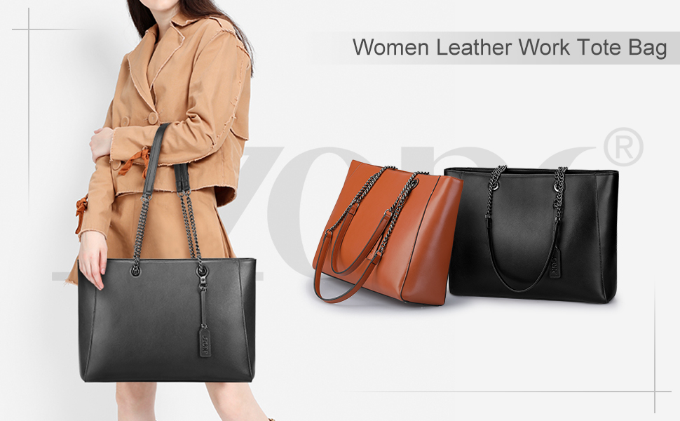 Women leather tote durable and lagre