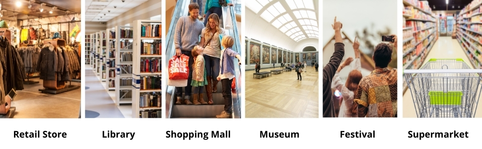 People Counter for Library, Events, Theme Parks, Malls, Stores, Museum