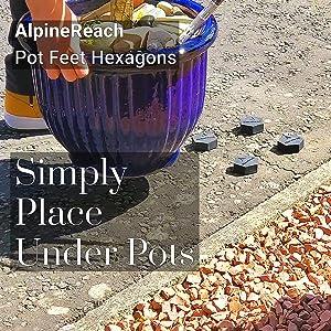 AlpineReach Pot Feet Hexagons Simply Place Under Pots