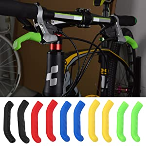 1pair Silicone Gel Brake Protector Sleeves Bike Brake Handle Lever Cover Universal Mountain Bike Brake Protection Cover