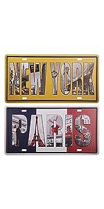 New york paris sign