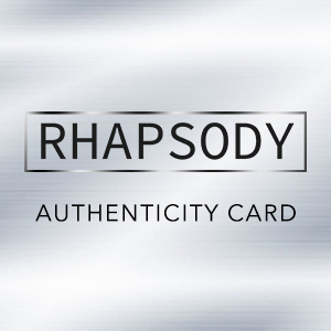 Rhapsody Certificate of Authenticity