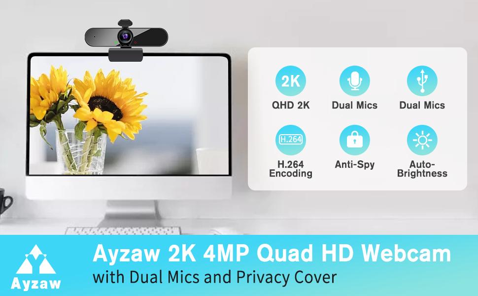 Full HD 2560P Webcam