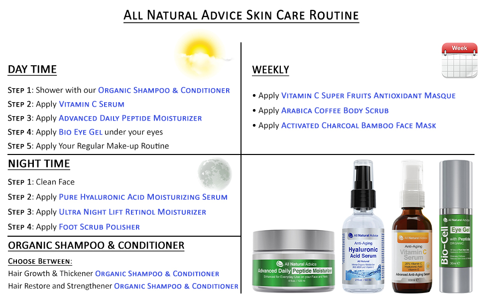 All Natural advice skin care routine