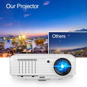 movie projector outdoor
