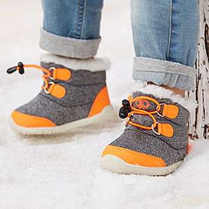 Toddler baby Winter Snow Boots Boys Girls Cold Weather Baby Faux Fur Shoes