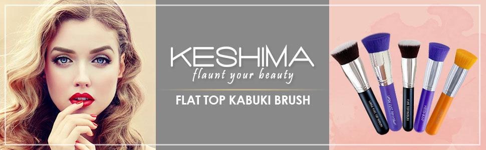 flat top kabuki brush, large foundation brush, regular foundation brush