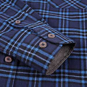 long sleeve flannel shirts for men casual button down