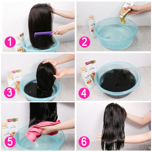 How to washing the body wave lace front human hair wigs