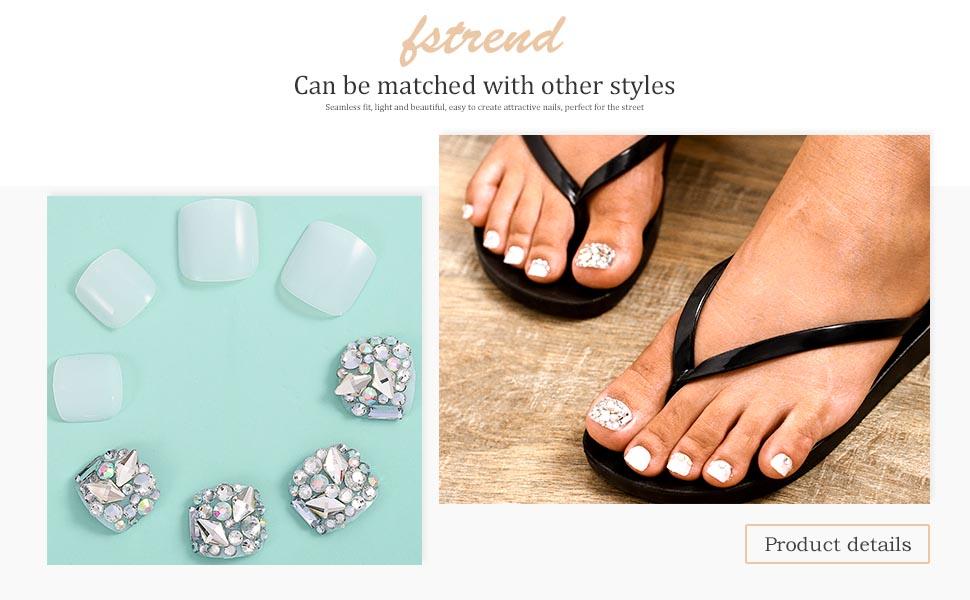 short false toe nails