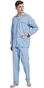 Amaxer Men 100% Cotton Comfortable PJs