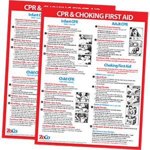 2 PACK- CPR amp; Choking Posters