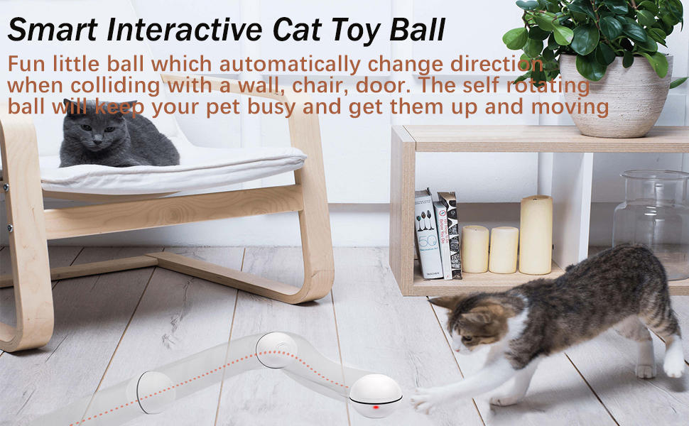 YOFUN Smart cat toy ball
