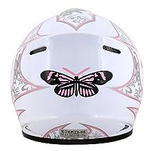 Leopard LEO-X18 Children Kids MX Motocross Motorcycle Motorbike Helmet /& Gloves Skull L 53-54cm