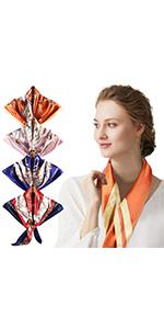 Pañuelo de Seda para Mujer, Pañuelos Bandanas, Cabeza Cuello
