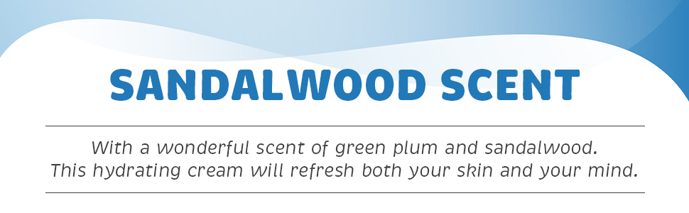 timeless scent of green plum and sandalwood along with the deep moisture that lasts all day