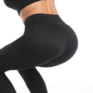 UURUN High Waist Yoga Pants Capri Workout Running Leggings with Pockets - Non-See-Through Fabric 17