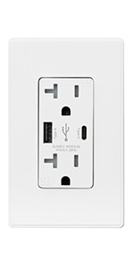 wall usb-c outlet socket charger plug with usb ports