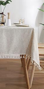 solid tassel tablecloth