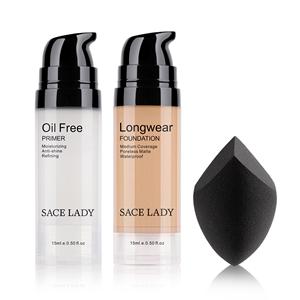 primer foundation sponge women makeup set long lasting smooth coverage face cosmetic