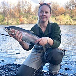 women fishing chest waders
