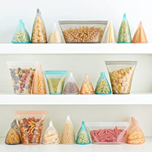 zip top, ziptop, reusable containers, reusable bags, food storage, silicone containers, plastic bags
