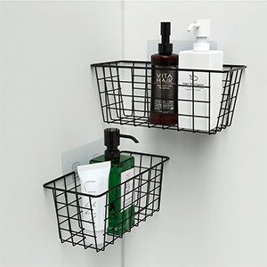 no drilling wall-mounted basket for bathroom