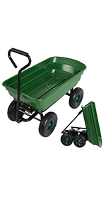 Garden Dump Utility Wagon Cart