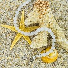 Mystic Self White Moonstone Bracelet Gemstone Beaded Crystal Healing Chakra Birthstone Jewelry Women