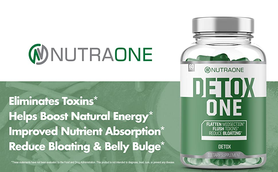 Nutraone DetoxOne Detox one detox supplement nutra one