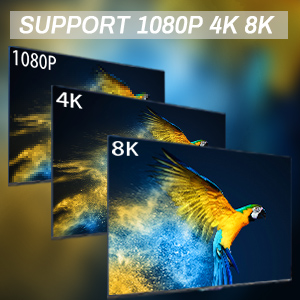 1080P 4K 8K resolution and 3D Movies