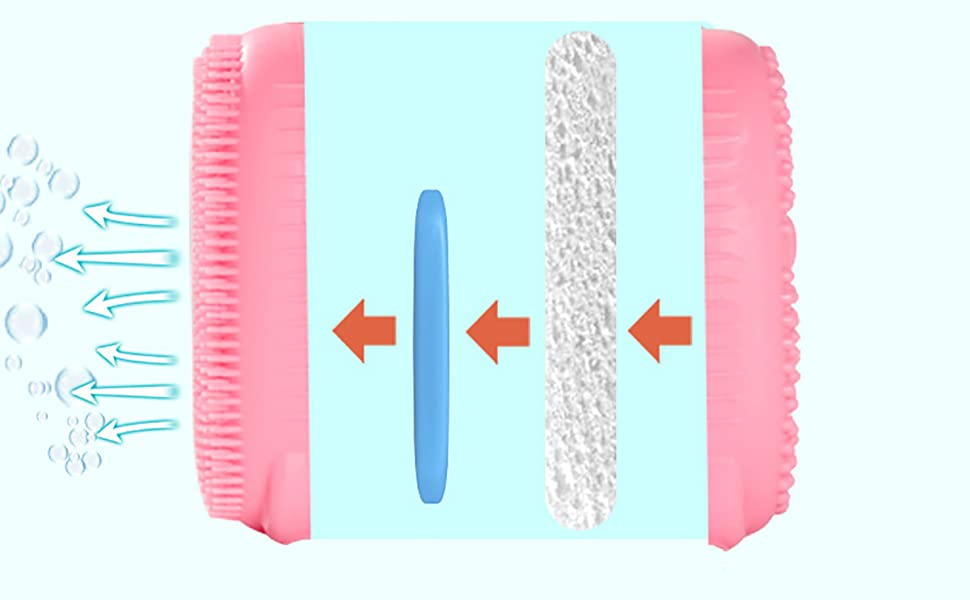 4-Layer Structure SIlicone Body Brush