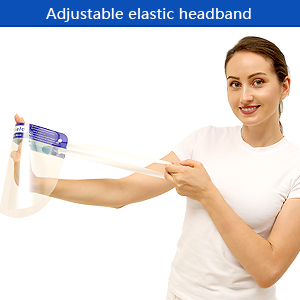 Adjustable elastic headband