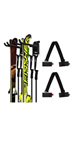 Skiing Storage Mount with Ski Strap Carrier