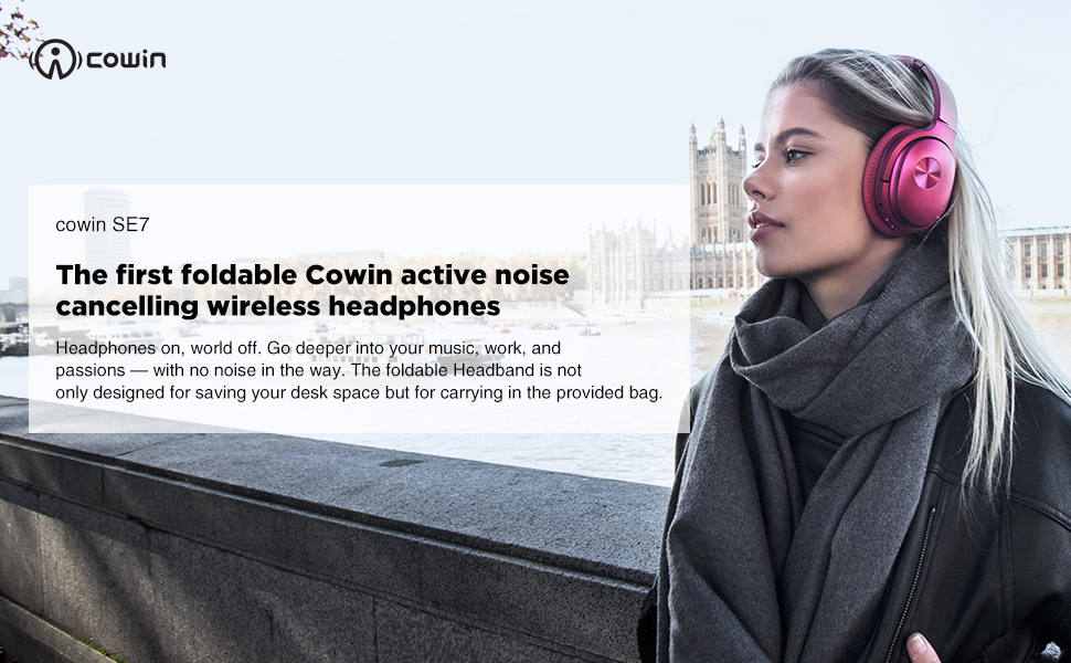 amazon com cowin se7 active noise cancelling headphones bluetooth headphones wireless headphones over ear with microphone aptx comfortable protein earpads 30 hours playtime for travel work purple home audio theater cowin se7 active noise cancelling headphones bluetooth headphones wireless headphones over ear with microphone aptx comfortable protein earpads 30