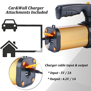 CAR&WALL CHARGER ATTACHMENTS INCLUDED