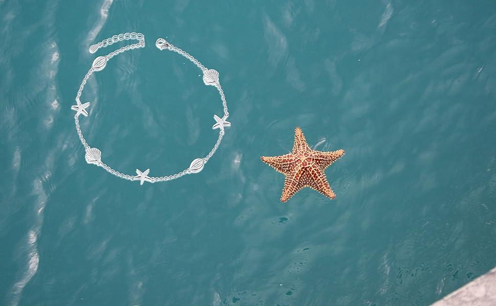 starfish bracelet anklets for womens