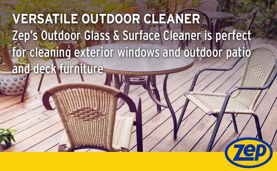 outdoor furniture cleaner, exterior window cleaner