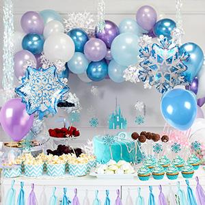 Tacobear Elsa Frozen Fiesta Cumpleaños Decoración Azul ...