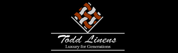 Todd Linens logo, luxury for generations, Todd Linens textile