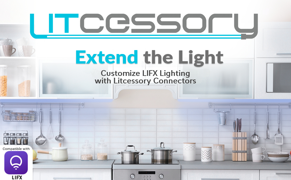 customize LIFX Z lightstrips with easy to assemble litcessory connectors