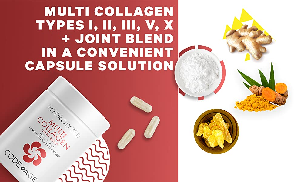 Codeage Multi Collagen Capsules Joint Blend New Pills