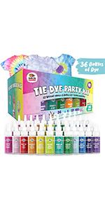 36 Pack Tie Dye Party Kit