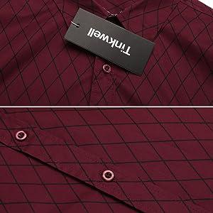 Diamond Plaid Checked mens shirt