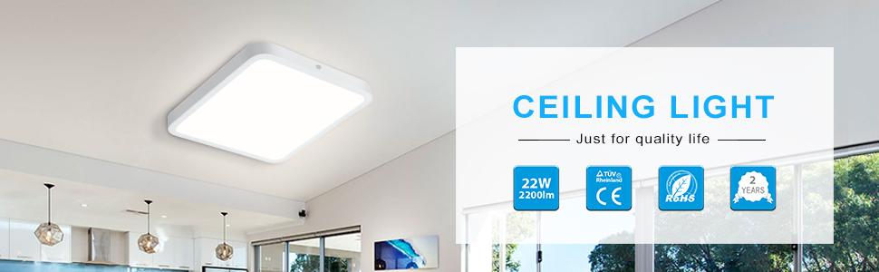 Lámpara de techo LED.