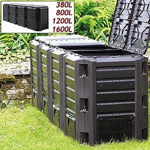 380L 800L 1200L 1600L humus déchets de jardin déchets de cuisine sol décomposition imperméable
