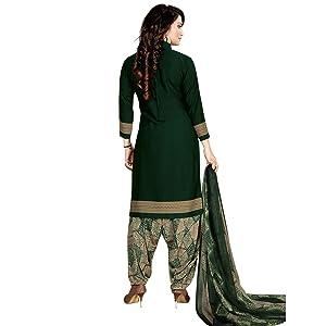 Rajnandini Light Blue and Grey Cotton Printed Salwar Dress Material for Women