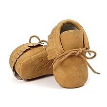 Baby Boys Girls Moccasins Soft Sole Tassels Prewalker Anti-Slip Shoes