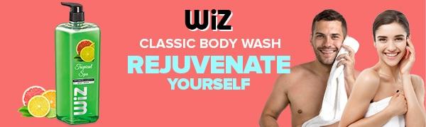 wiz liquid soap body wash shower gel